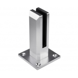 Frameless Glass Aluminium Mount Square