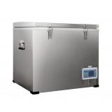 Portable Cooler Fridge Freezer Silver 60L