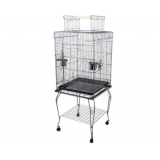Parrot Pet Aviary Bird Cage with Open Roof 145cm