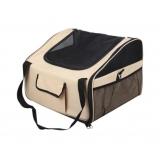 Pet Dog Cat Car Seat Carrier Travel Bag Small Beige