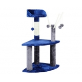 Cat Scratching Poles Post Furniture Tree House Grey
