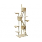 New Giant Cat Scratching Pole Tree with Ladder 244cm