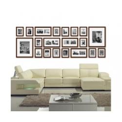 20 pcs Photo Frames Set Wall Brown