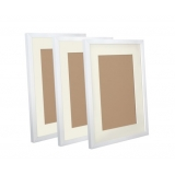3 pcs Photo Frames Set Wall White
