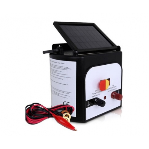 8km Solar Power Electric Fence Energiser Charger