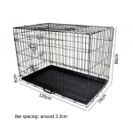 48 Inch Metal Collapsible Dog Cage