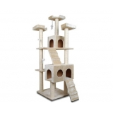 Giant Multi Level Cat Scratching Poles Tree with Ladder 185cm