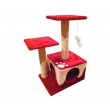 Cat Scratching Poles Post Furniture Tree House Red