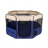Pet Dog Puppy Cat Exercise Playpen Crate Cage Tent Blue