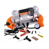 Silver Portable High Pressure Tyre Inflator Air Compressor w/ Carry Bag