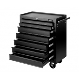 7 Drawers Roller Toolbox Cabinet All Black