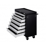 7 Drawers Roller Toolbox Cabinet Black/Grey