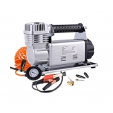 Portable High Pressure Tyre Inflator Air Compressor Silver
