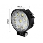 Round Spot LED and Flood LED Work Lamp 27W