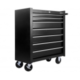7 Drawers Roller Toolbox Cabinet Black