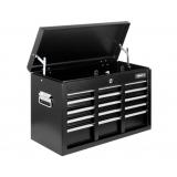 9 Drawers Tool Box Chest Black