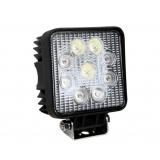 Square Spot LED and Flood LED Work Lamp 27W