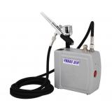 Air Brush Compressor Grey W/ Spray Gun