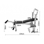 Fitness Home Multi Gym Weights Bench Press