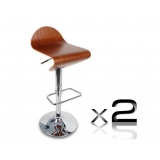 2 x Wooden Bar stool - Veneer