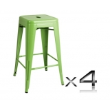 4x Replica Tolix Bar Stool 66cm - Green