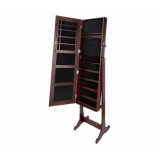 Mirror Jewellery Cabinet Storage Walnut