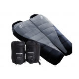 Set of 2 Camping Thermal Sleeping Bags Black