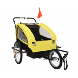 Child Bike Trailer Stroller and Jogger Yellow