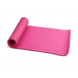 Yoga Gym Pilates NBR Form Mat Pink 10mm Thick