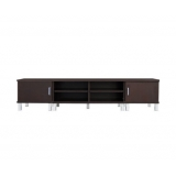 Wooden TV Cabinet Entertainment Unit w/ Drawers Brown