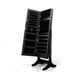 Mirror Jewellery Cabinet Box Full Length Wooden Black