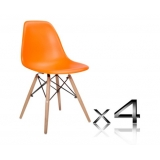 Set of 4 Replica Eames Eiffel DSW Dining Chair Orange