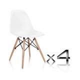 Set of 4 Replica Eames Eiffel DSW Dining Chair White