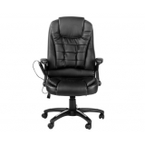 8 Point Massage Executive PU Leather Office Computer Chair Black