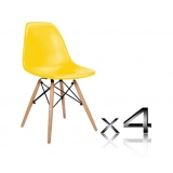 Set of 4 Replica Eames Eiffel DSW Dining Chair Yellow