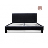 Queen PU Leather Wooden Bed Frame Black