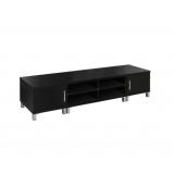 TV Stand Entertainment Unit Lowline Cabinet Drawer 190cm Black
