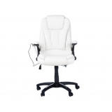 Point Massage Executive PU Leather Office Computer Chair White