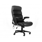 6 Point Massage Executive PU Leather Office Computer Chair Black