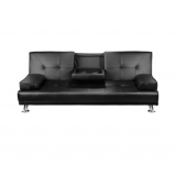 Modern PU leather 3 Seater Sofa Bed