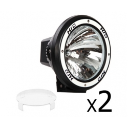 2 x 7 Inch HID Spiral Spot Driving Lights 55W