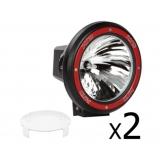 2 x 7 Inch HID Spiral Spot Driving Lights 75W