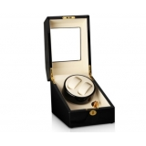 Automatic Watch Winder with Single Motor & 3 Watches Storage Black Beige
