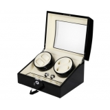 Automatic Watch Winder with Dual Motors & 6 Watches Storage Black