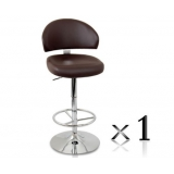 1 x PU Leather Bar Stool - Chocolate