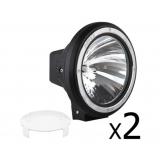2 x 7 Inch HID Spiral Spot Driving Lights 100 W