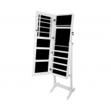 Mirror Jewellery Cabinet Storage White