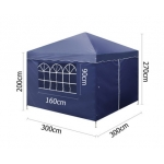 3m x 3m Folding Garden Outdoor Gazebo Marquee-Blue