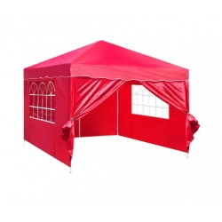 3m x 3m Folding Garden Outdoor Gazebo Marquee-Red