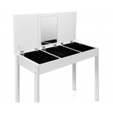 3 Drawer Dressing Table Jewellery Cabinet w/ Mirror White